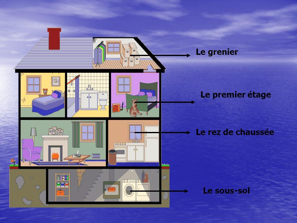 Le rez de chaussée Le sous-sol Le premier étage Le grenier