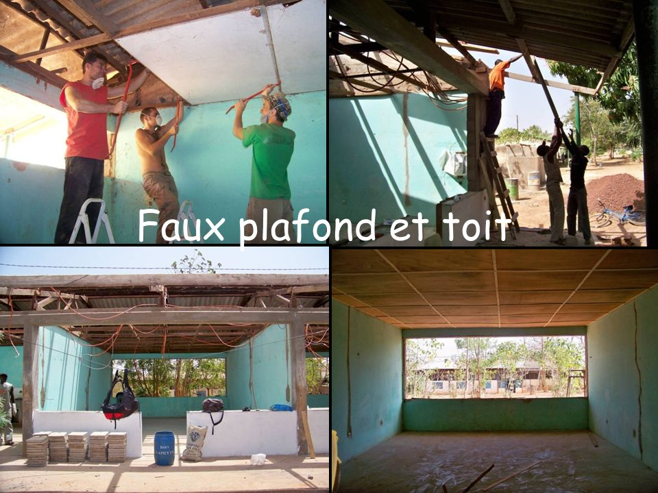 Faux plafond et toit