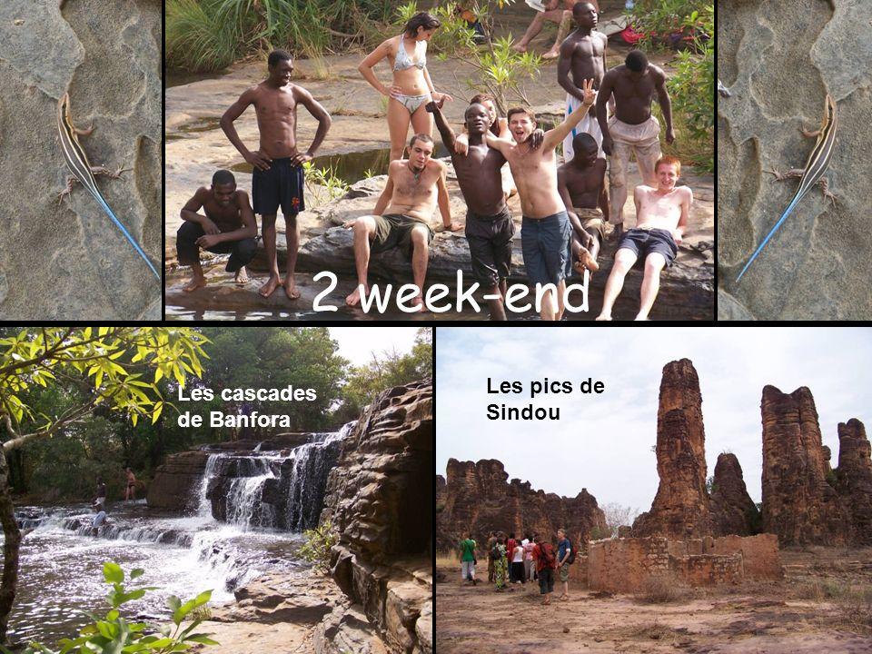 2 week-end Les cascades de Banfora Les pics de Sindou