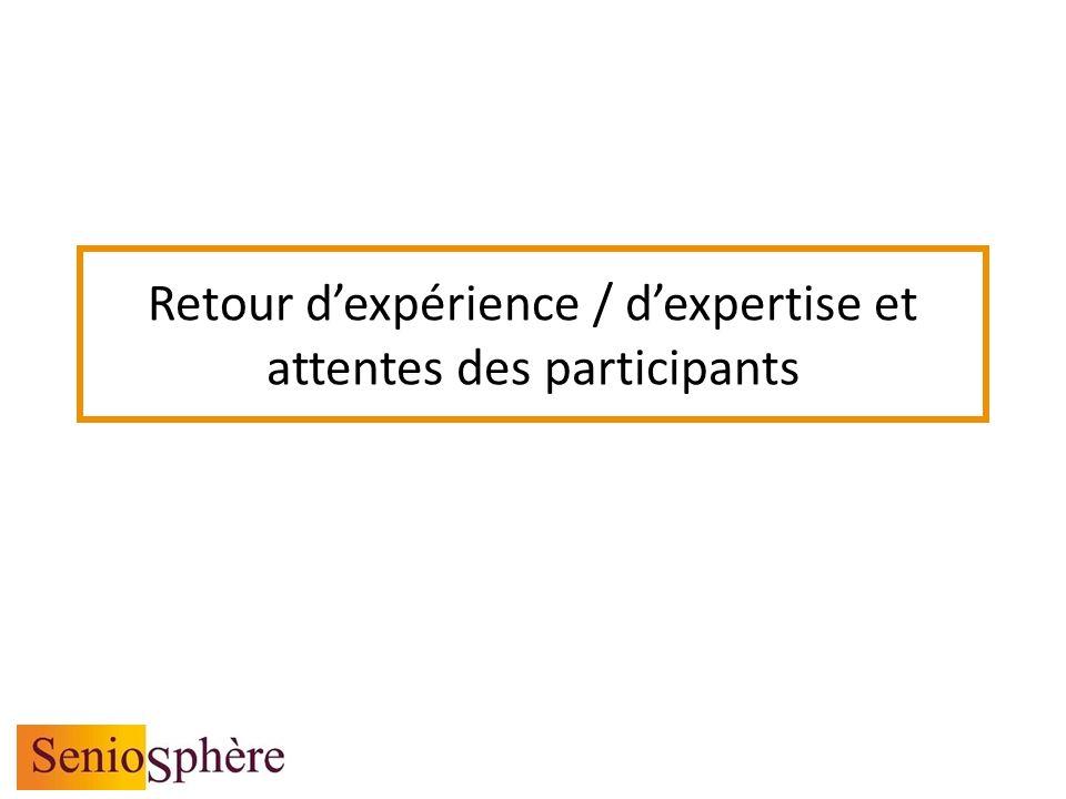 Retour dexpérience / dexpertise et attentes des participants