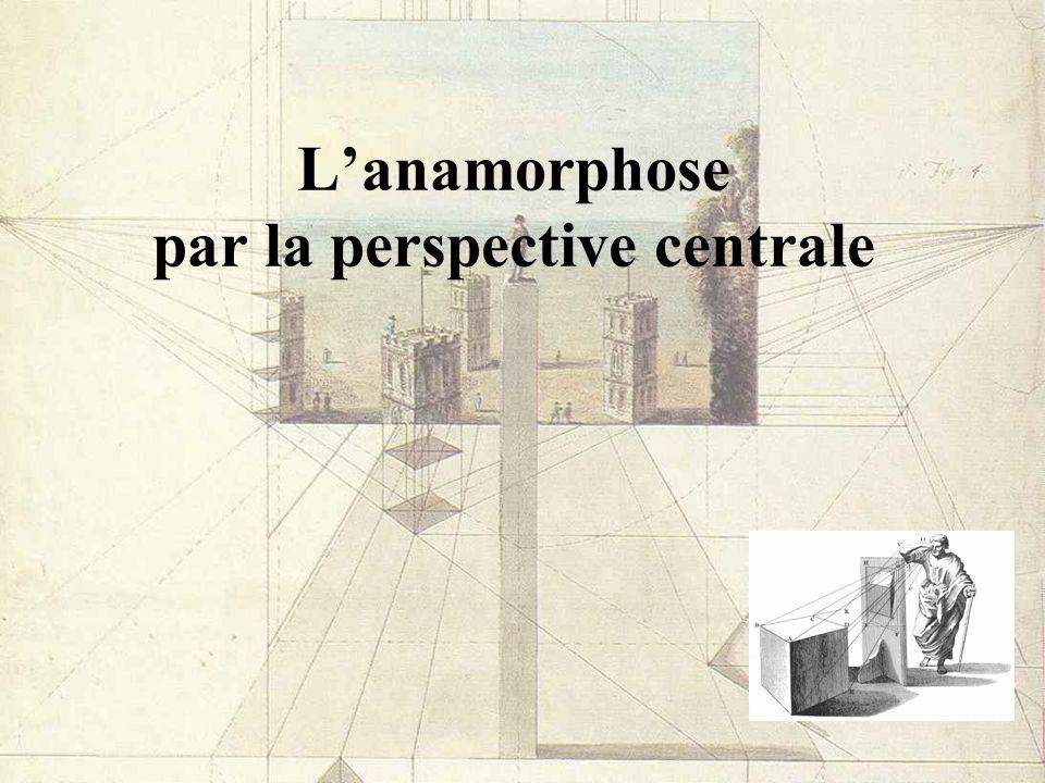 Lanamorphose par la perspective centrale