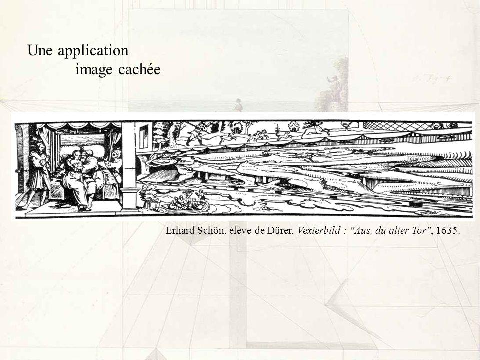 Une application image cachée Erhard Schön, élève de Dürer, Vexierbild :