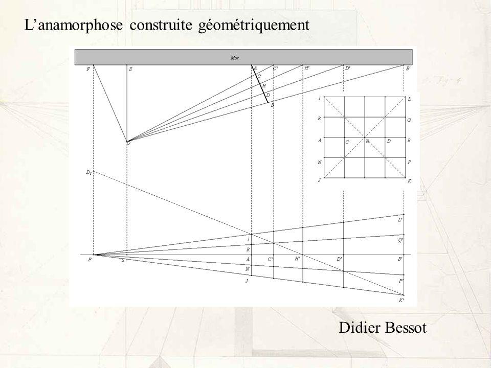 Lanamorphose construite géométriquement Didier Bessot
