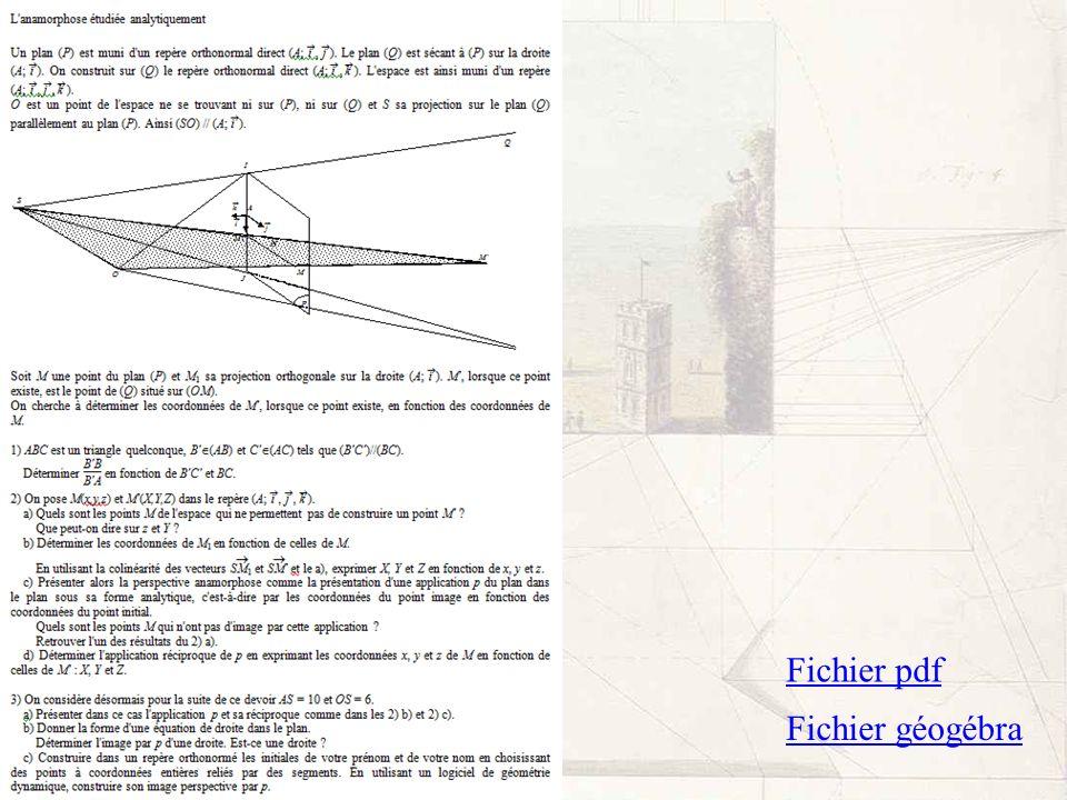 Fichier géogébra Fichier pdf