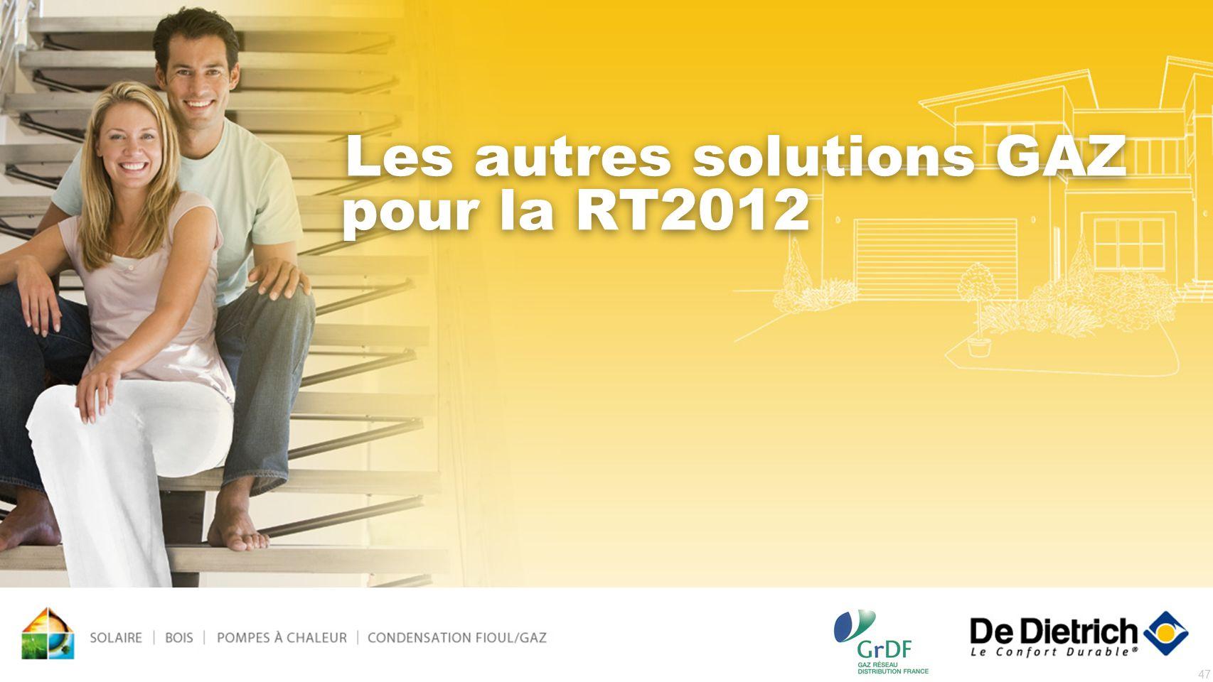 47 Les autres solutions GAZ pour la RT2012