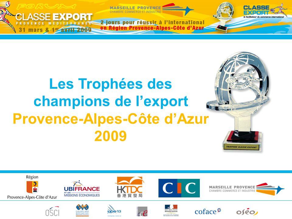 Les Trophées des champions de lexport Provence-Alpes-Côte dAzur 2009