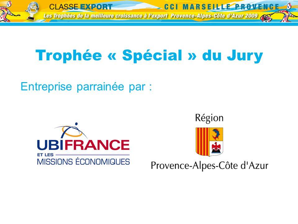 Trophée « Spécial » du Jury Entreprise parrainée par :
