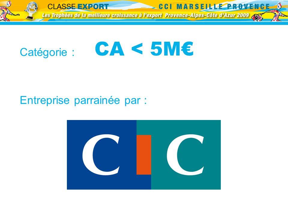 CA < 5M Catégorie : Entreprise parrainée par :