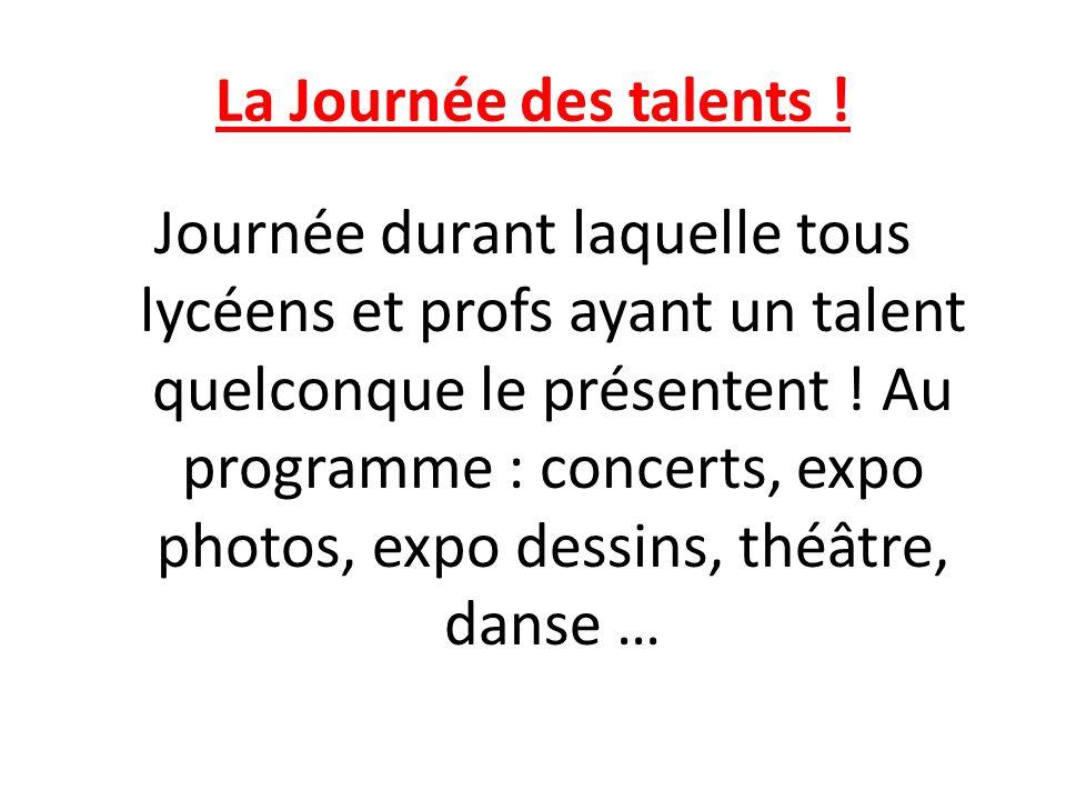 La Journée des talents .
