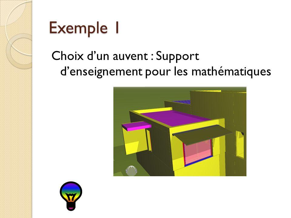 Exemple 1 Choix dun auvent : Support denseignement pour les mathématiques