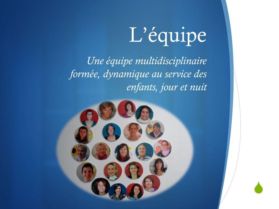Léquipe Une équipe multidisciplinaire formée, dynamique au service des enfants, jour et nuit