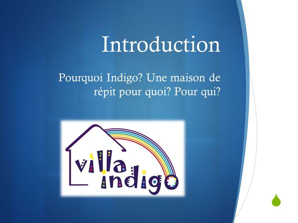 Introduction Pourquoi Indigo? Une maison de répit pour quoi? Pour qui?