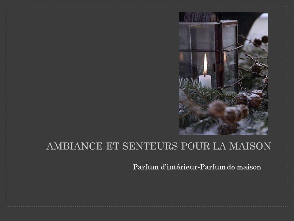 AMBIANCE ET SENTEURS POUR LA MAISON Parfum dintérieur-Parfum de maison