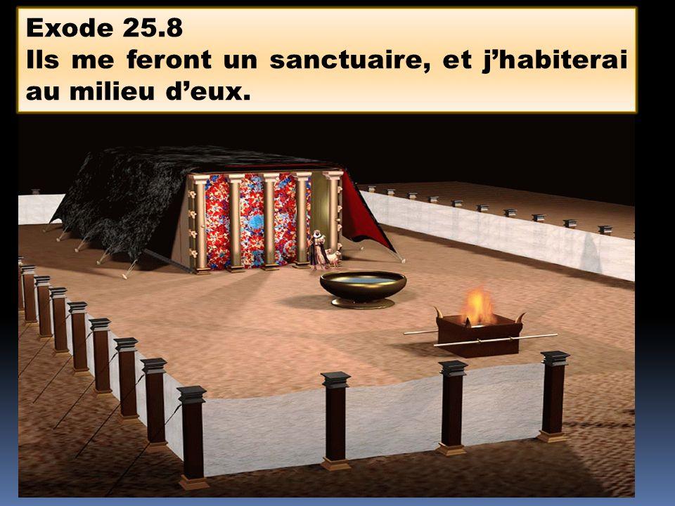 Exode 25.8 Ils me feront un sanctuaire, et jhabiterai au milieu deux.