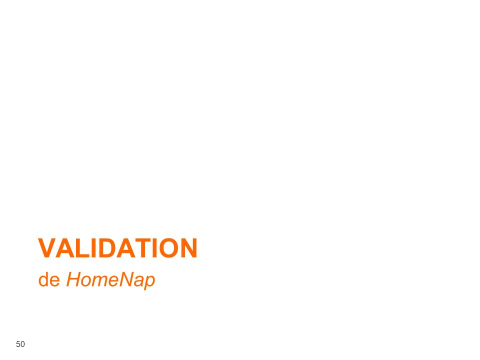 50 de HomeNap VALIDATION