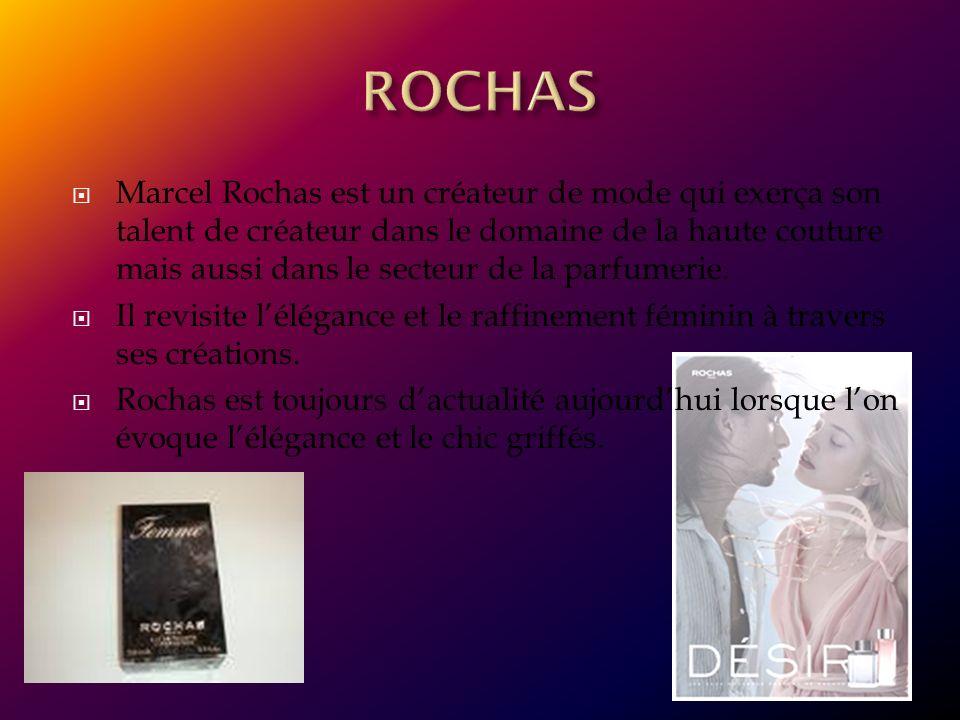 Marcel Rochas est un créateur de mode qui exerça son talent de créateur dans le domaine de la haute couture mais aussi dans le secteur de la parfumeri