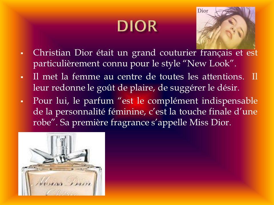 Christian Dior était un grand couturier français et est particulièrement connu pour le style New Look. Il met la femme au centre de toutes les attenti