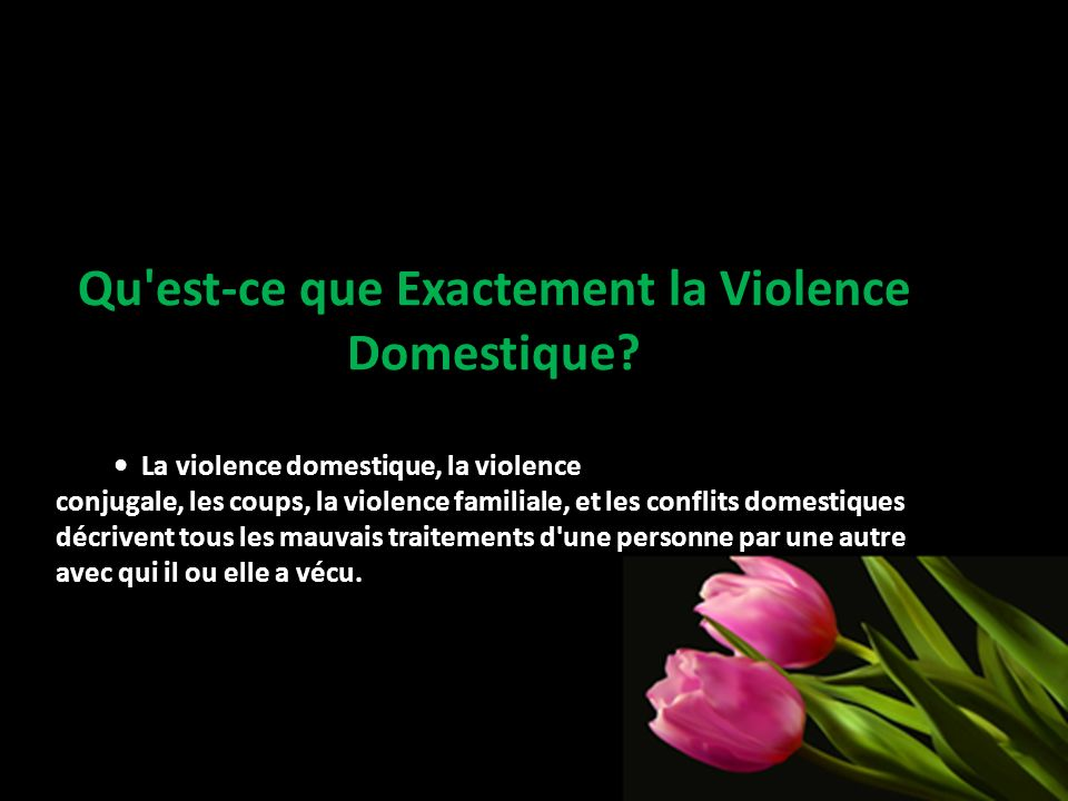 Qu'est-ce que Exactement la Violence Domestique? La violence domestique, la violence conjugale, les coups, la violence familiale, et les conflits dome