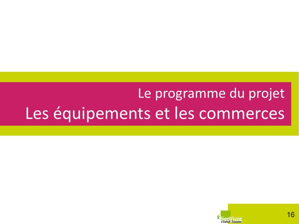 Le programme de la ZAC : les logements Le programme du projet Les équipements et les commerces 16