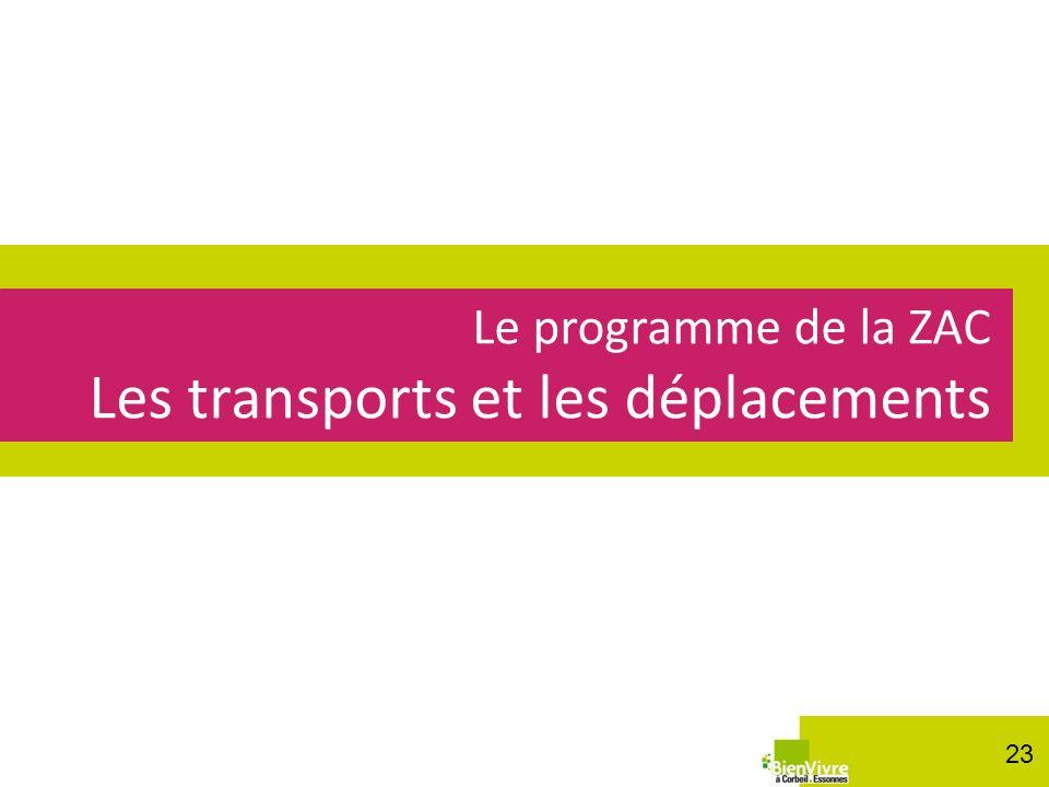 Le programme de la ZAC Les transports et les déplacements 23