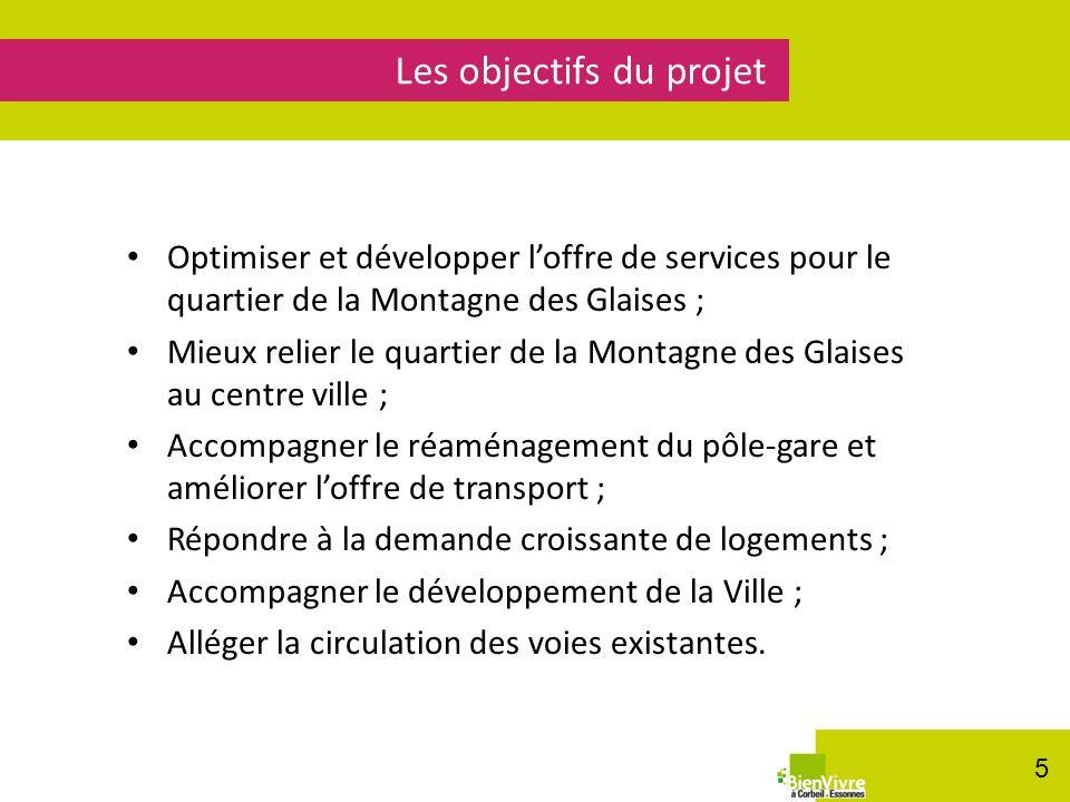 Optimiser et développer loffre de services pour le quartier de la Montagne des Glaises ; Mieux relier le quartier de la Montagne des Glaises au centre