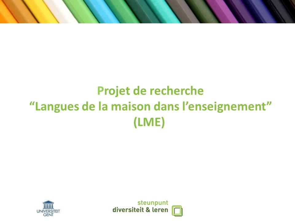Projet de recherche Langues de la maison dans lenseignement (LME)