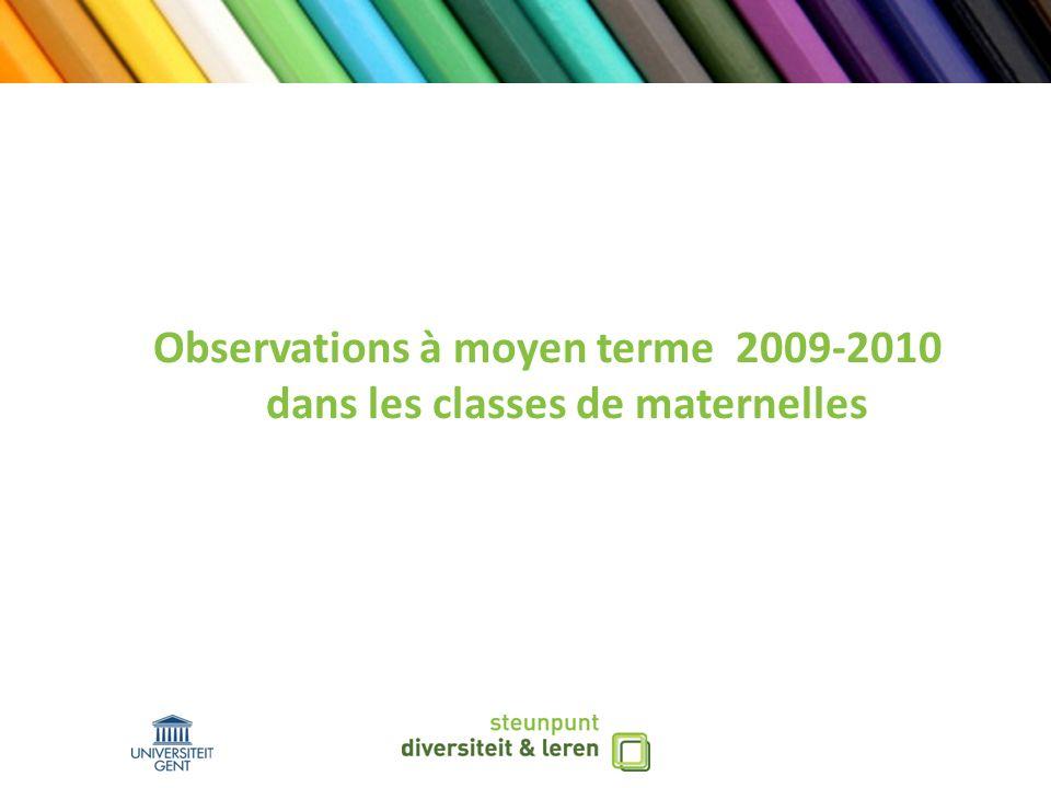 Observations à moyen terme 2009-2010 dans les classes de maternelles