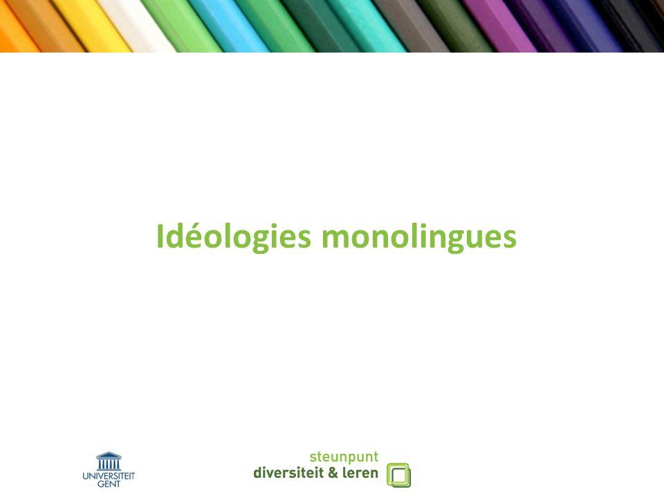 Idéologies monolingues