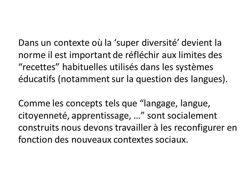 Lapprentissage dun bilinguisme fonctionnel Utiliser les répertoires plurilingues comme capital didactique pour les apprentissages : utilisation fonctionnel des langues de la maison dans des environnements multilingues
