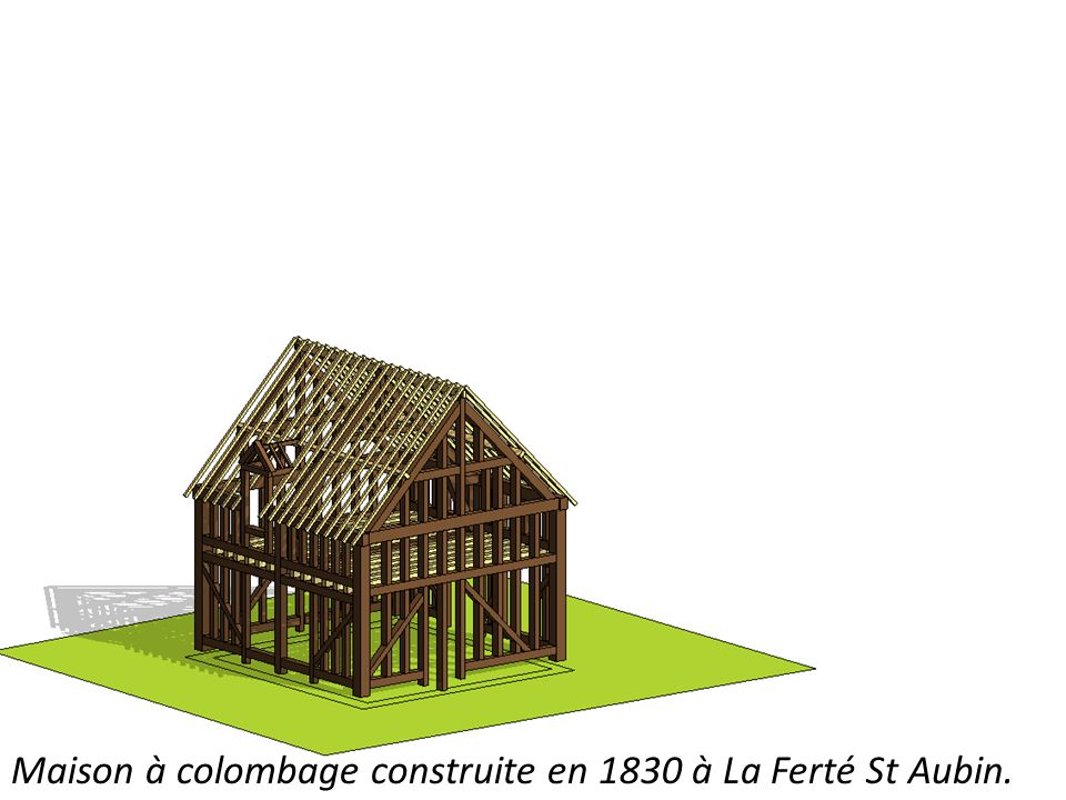 Maison à colombage construite en 1830 à La Ferté St Aubin.