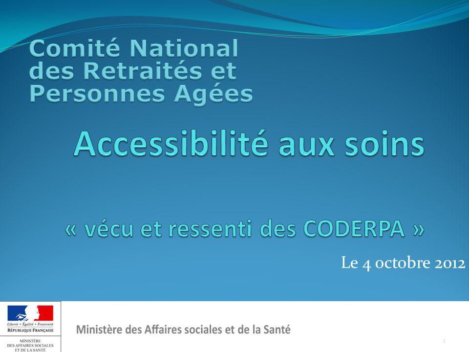 Laccessibilité géographique « pas de réelle accessibilité géographique équitable selon les territoires...