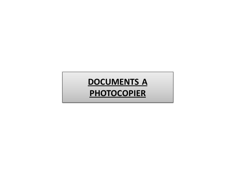 DOCUMENTS A PHOTOCOPIER