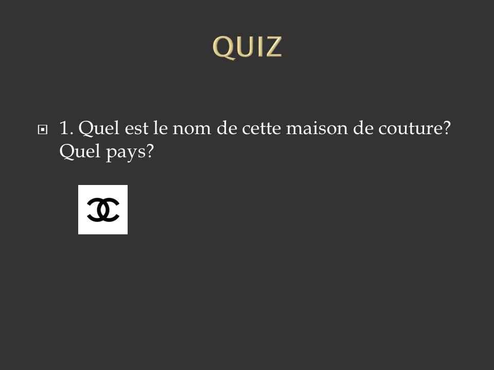 1. Chanel. France.