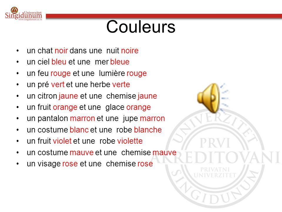 Objašnjenje Sve imenice u francuskom jeziku su muškog ili ženskog roda. Sledeći slajdovi će vam ponuditi neke prideve kao i imenice uz koje će stajati