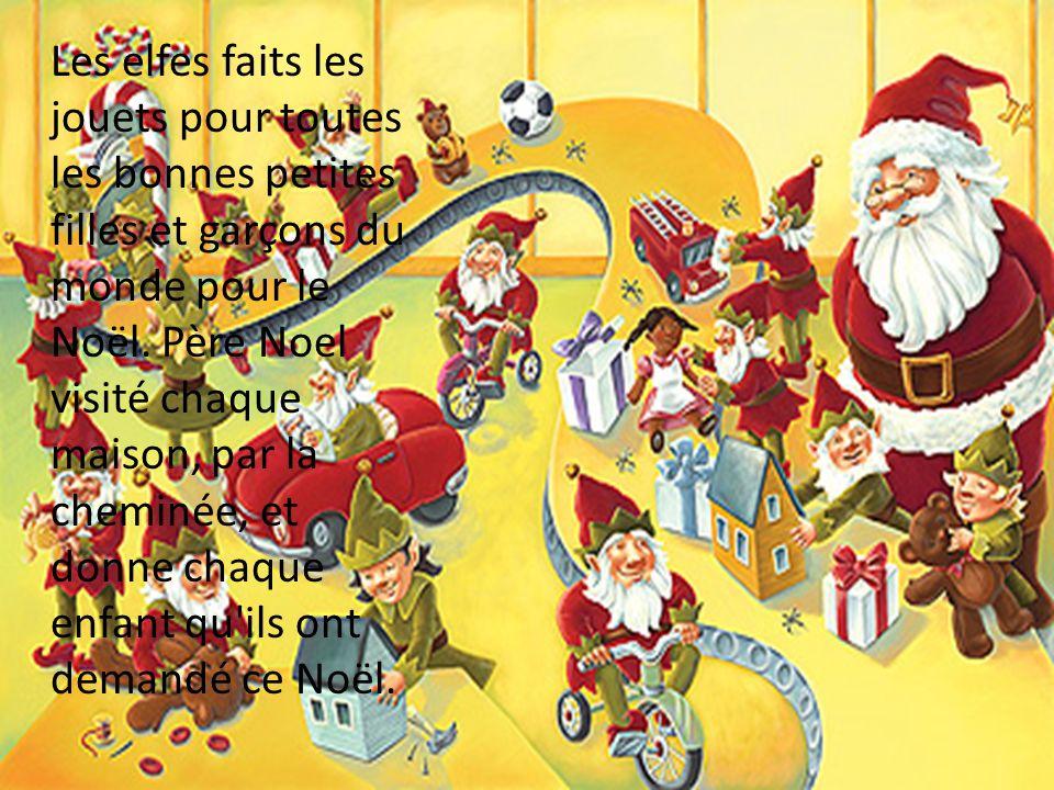 Les elfes faits les jouets pour toutes les bonnes petites filles et garçons du monde pour le Noël.
