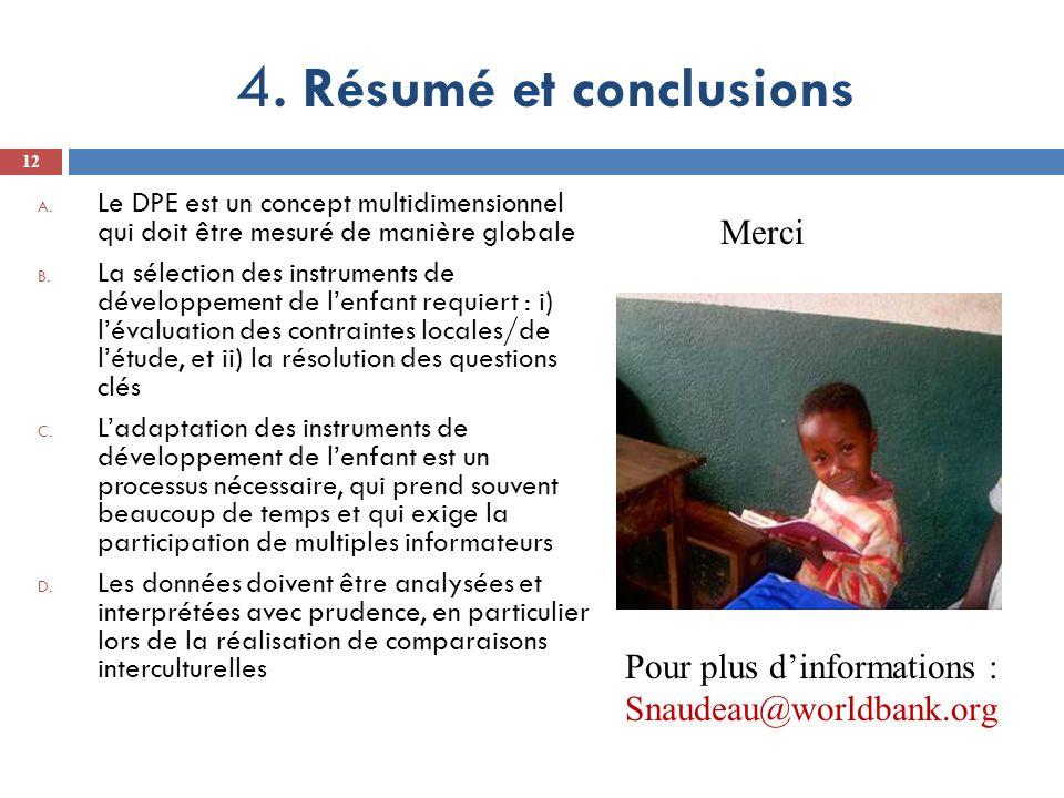 4.Résumé et conclusions A.