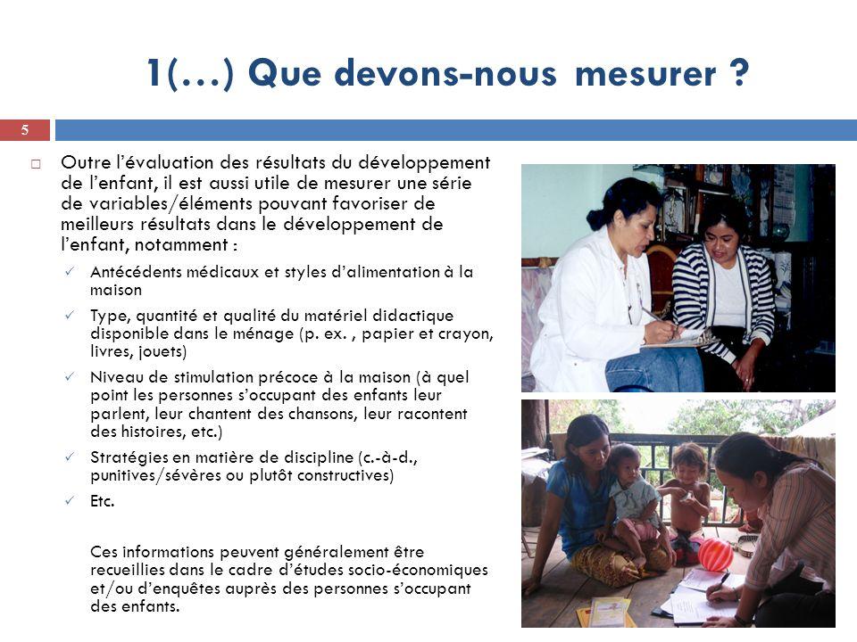1(…) Que devons-nous mesurer .