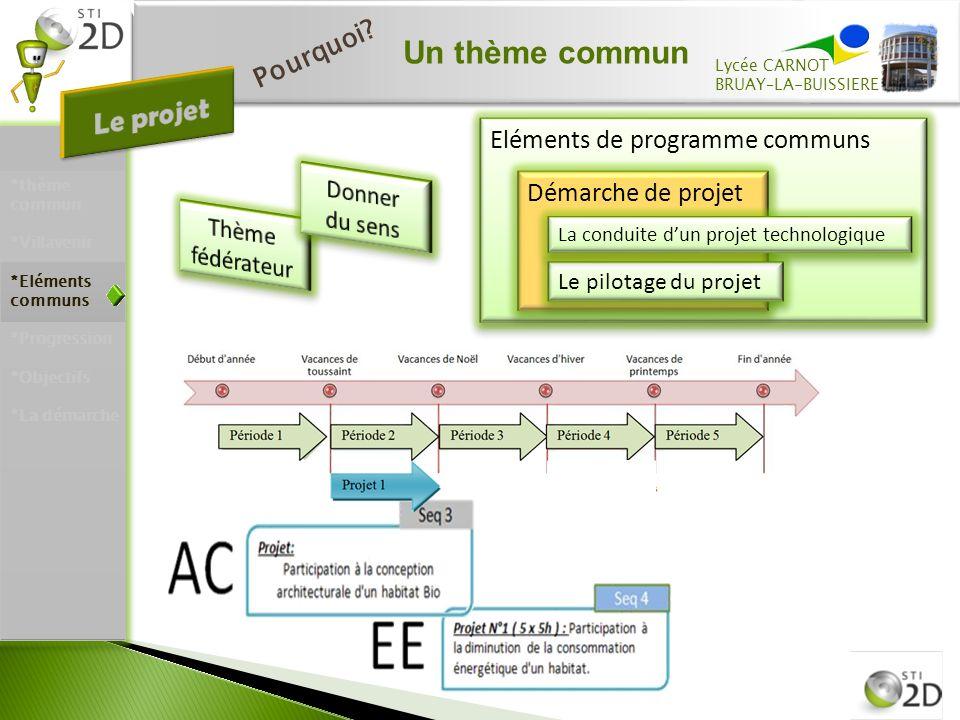 Un thème commun Lycée CARNOT BRUAY–LA-BUISSIERE P o u r q u o i .