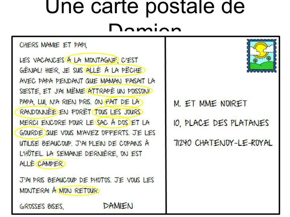 Une carte postale de Damien