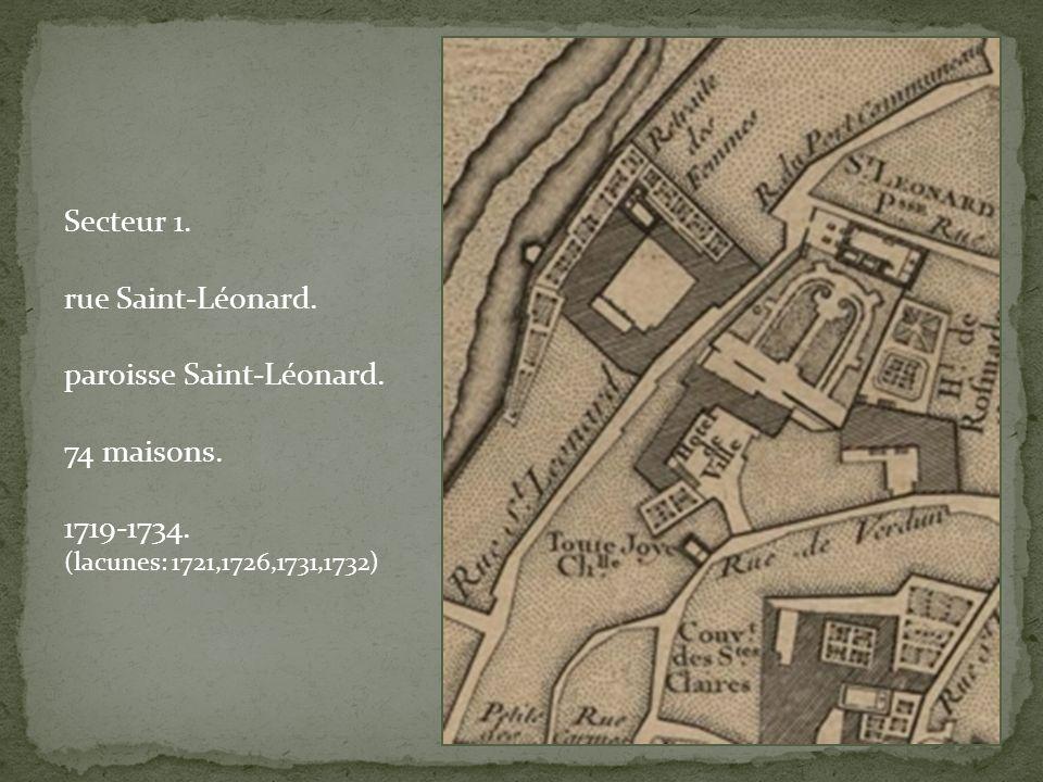 Secteur 1. rue Saint-Léonard. paroisse Saint-Léonard.