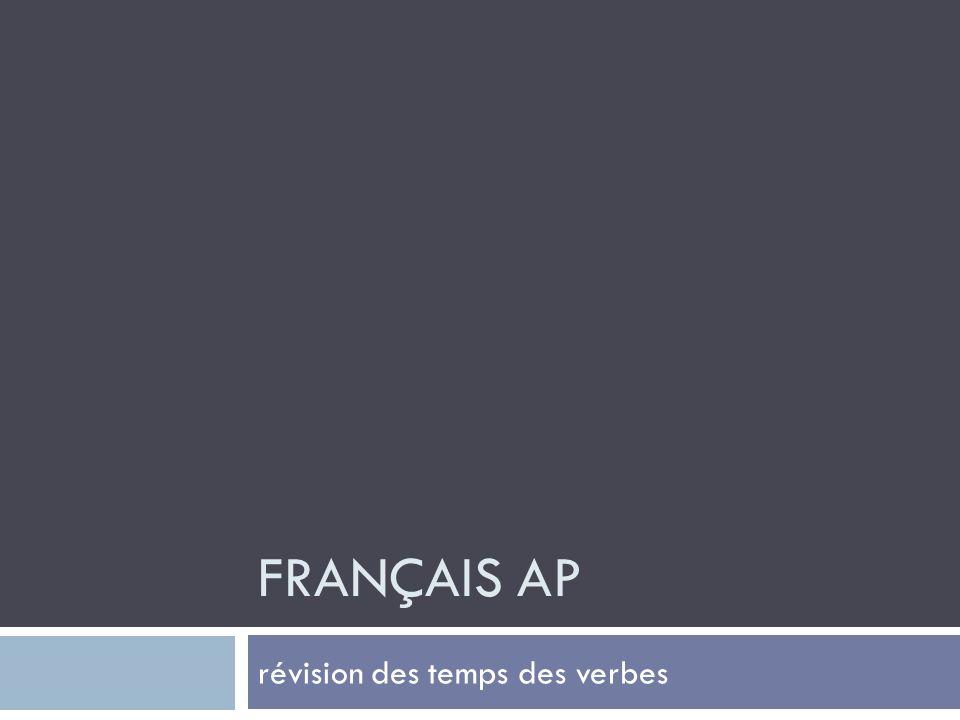 FRANÇAIS AP révision des temps des verbes