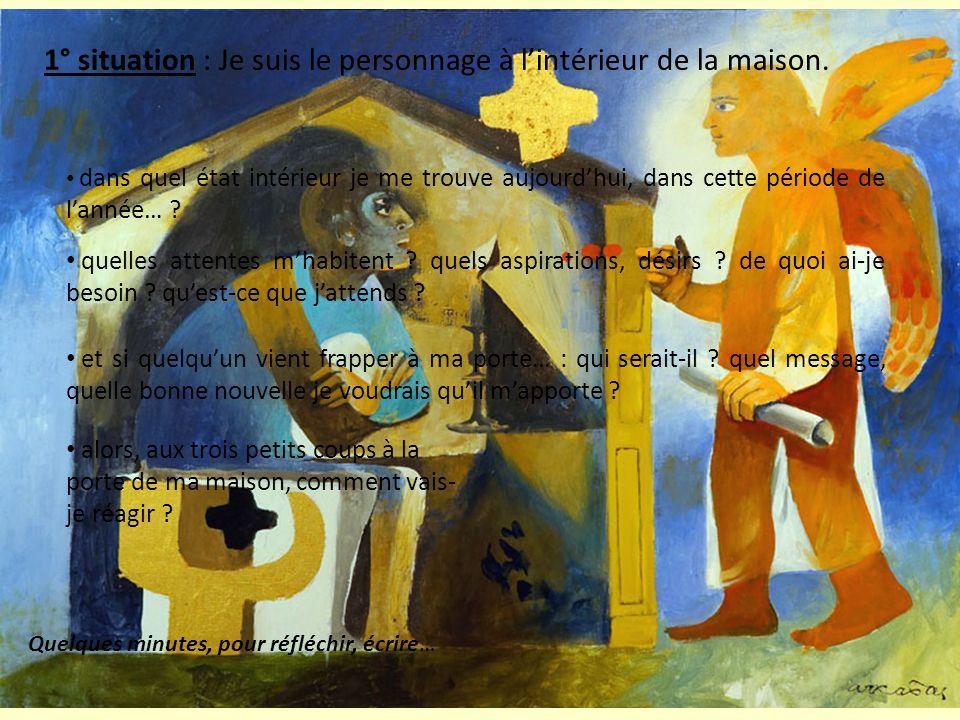 2° situation : Le personnage de lintérieur, est lensemble de la communauté éducative de mon établissement dans quel état se trouve mon établissement aujourdhui, dans cette période de lannée… .