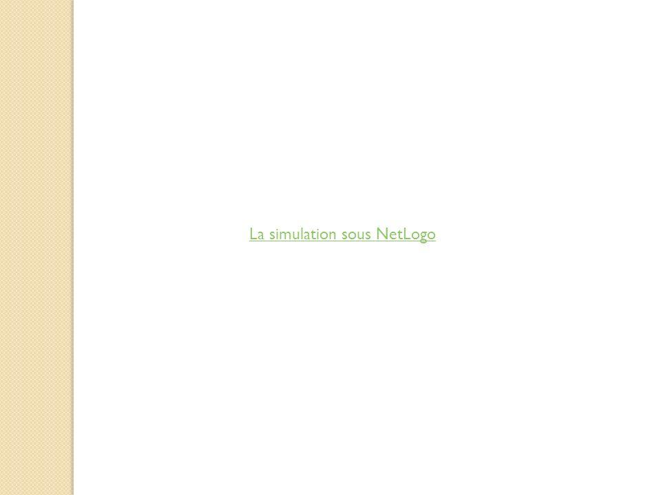 La simulation sous NetLogo