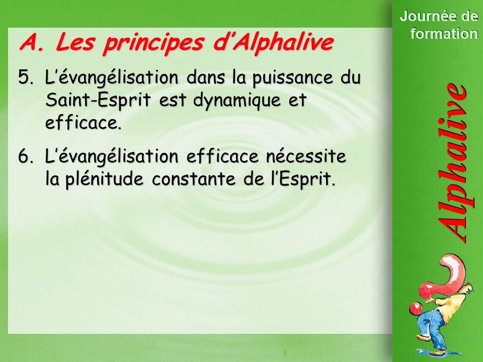 Les Principes dAlpha 2. Lévangélisation est un … A.