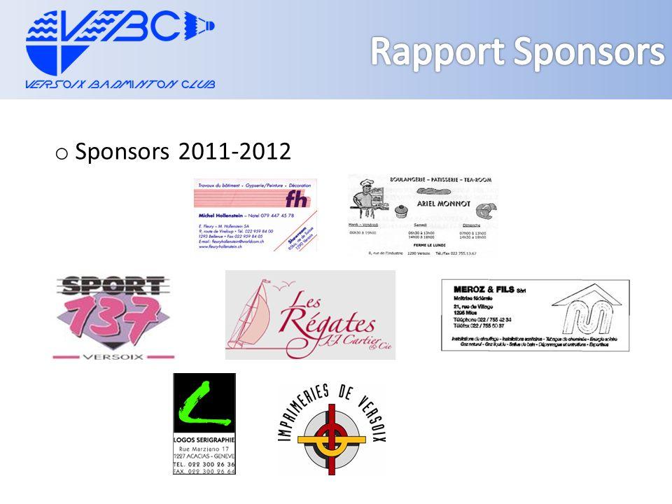 o Sponsors 2011-2012
