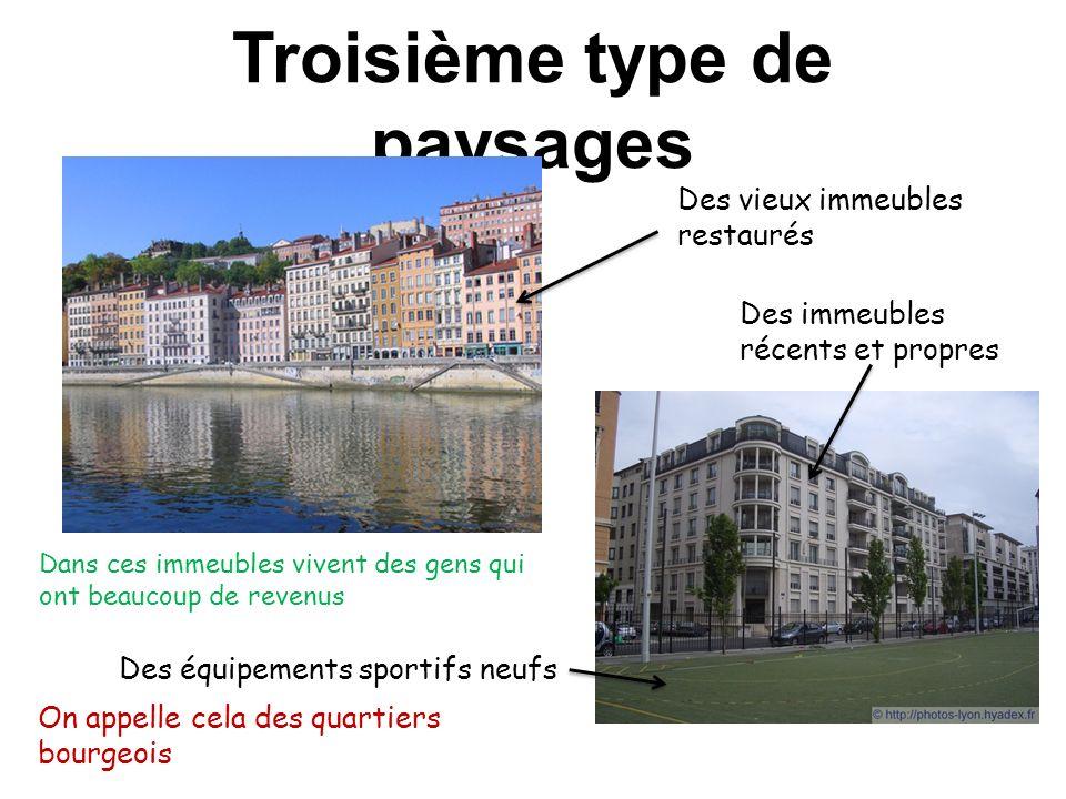 c.Les paysages dhabitation Les citadins sont les personnes qui habitent dans les villes.