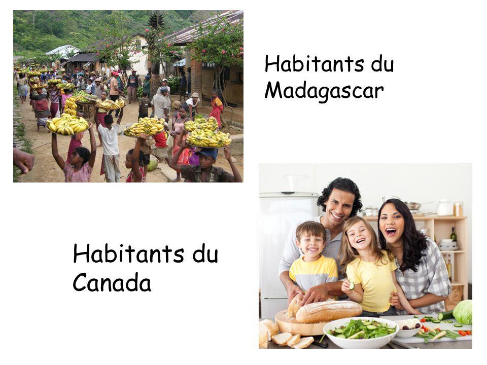 Habitants du Madagascar Habitants du Canada