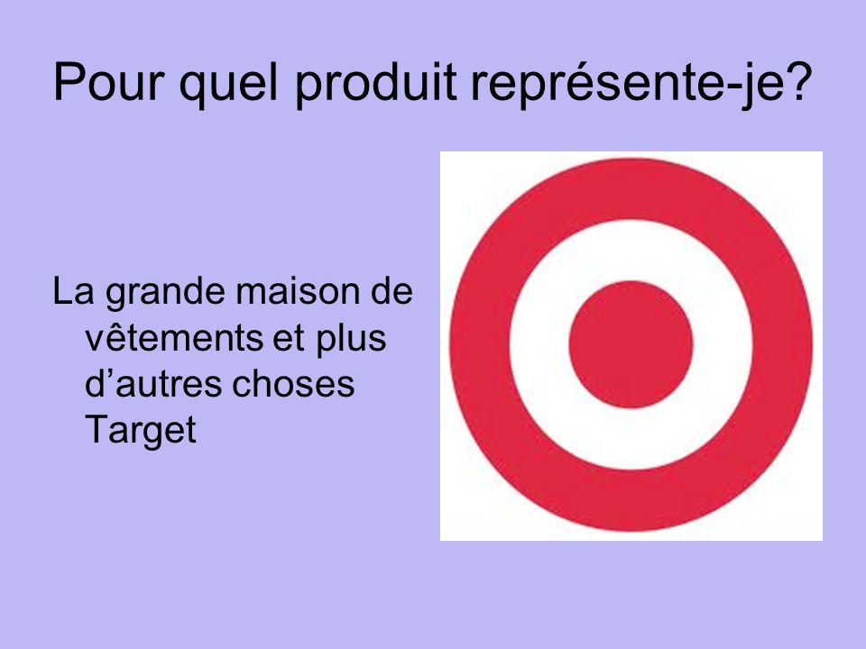 Pour quel produit représente-je La grande maison de vêtements et plus dautres choses Target