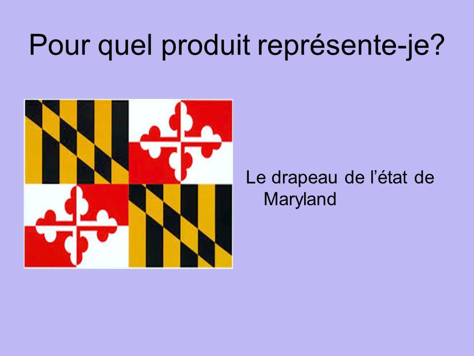 Pour quel produit représente-je Le drapeau de létat de Maryland