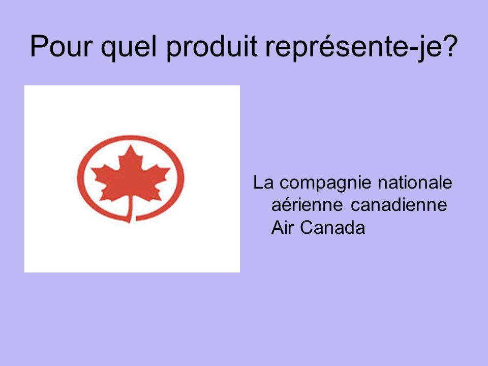 Pour quel produit représente-je La compagnie nationale aérienne canadienne Air Canada